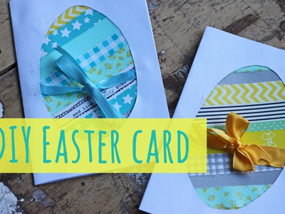 Easter crafts: make an easter card