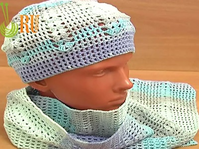 Easy Crochet Hat Pattern Crochet Scarf Tutorial 4 Part 1 of 3  Crochet Gorro para adulto