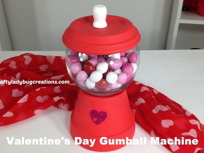 Easy Valentine's Day Kids Craft - DIY Gumball Machine by Kaylee