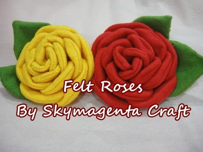 Felt Craft Tutorial - ROSE