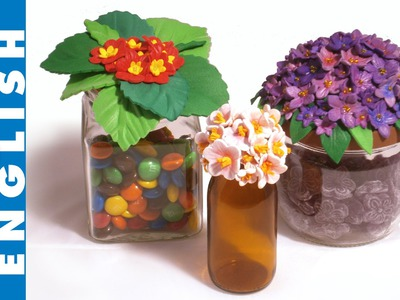 Flower top jars, how to make with craft foam