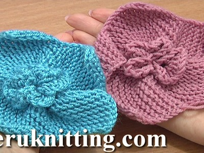 Garter Stitch 5-Petal Flower Knitting Tutorial 2 How To Knit Flowers