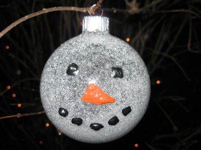 Glittered Snowman Ornament Craft Tutorial