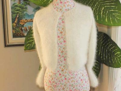 How I knit the Kate Middleton Angora Bolero