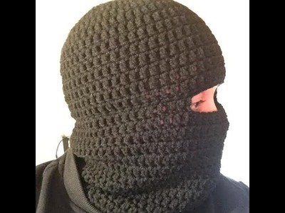 How to Crochet a Balaclava Ski Hat Ski Beanie Tutorial