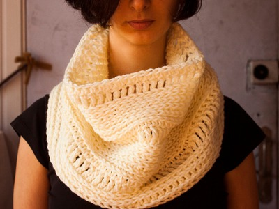 How to crochet knit look cowl