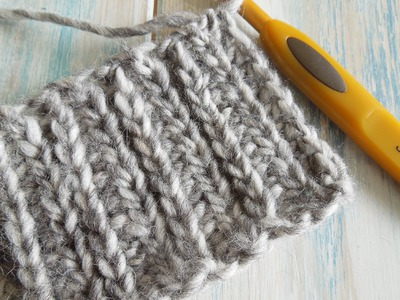 How To: Crochet looks like knitting with half double crochet in rows. Camel Stitch