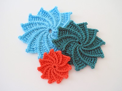 How to Crochet the Spiral Crochet Flower Left Handed