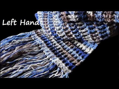 How-To: Crochet Waffle Stitch Scarf - left hand