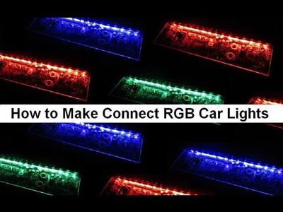 How to install ไฟLED Car RGB Lights DIY Tutorial Connect Wire a RGB LED 12V Tips