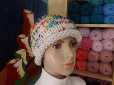 How To Knit  A Easy Hat Or Beanie With Circular Needles