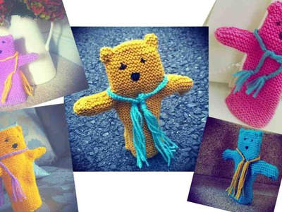 How to knit a teddy bear hand puppet