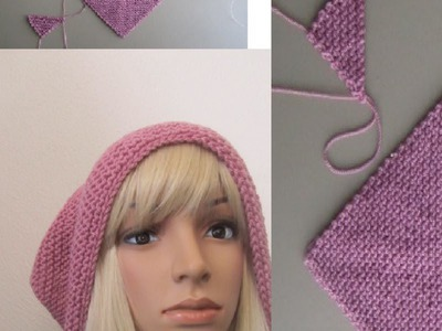 How to Knit a Triangle Scarf-Shawl Pattern #3 by ThePatterfamily