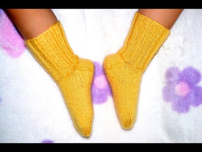 How to Knit Basic Socks for Baby Part 2