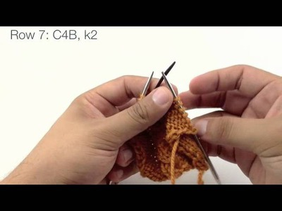 How to Knit the Garden Path Cable Stitch (English Style)