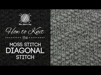 How to Knit the Moss Stitch Diagonal Stitch