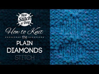 How to Knit the Plain Diamond Stitch {English Style}