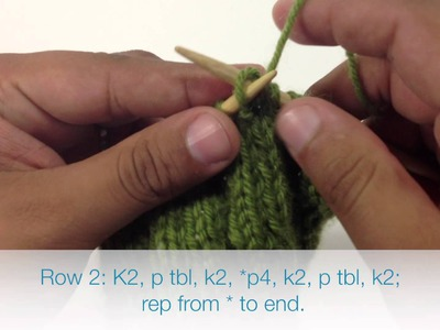 How to Knit the Rose Garden Cable Stitch (English Style)