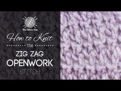 How to Knit the Zig Zag Openwork Stitch {English Style}