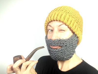 How to Loom Knit a Beard Hat (DIY Tutorial)