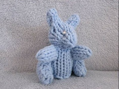 How to Loom Knit a Mini Rabbit