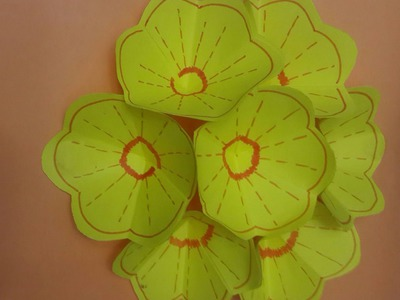 How to Make 3D Flower Pop Up Card - DIY - Tutorial .