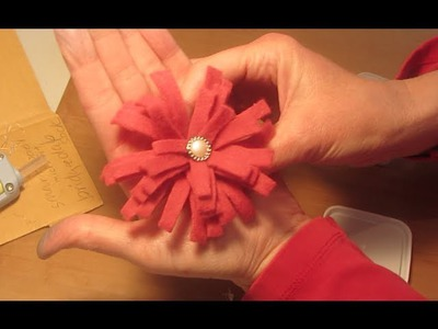 How to Make a Felt Flower Fleece Flower Craft Tutorial SO CUTE EASY