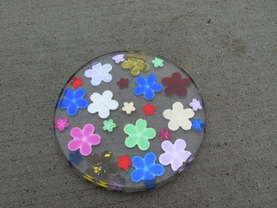 How to Make a Flower Jewel Coaster Craft Tutorial