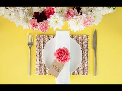 How to make a straw placemat (craft tutorial)