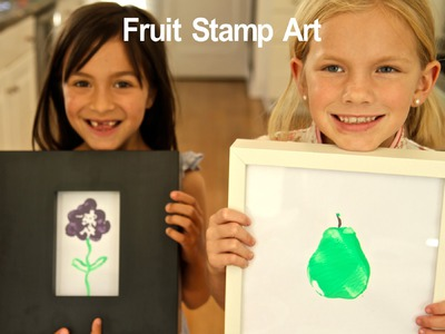 How-To Make Fruitastic Art Stamps - Easy DIY Kid Craft by Friday Playdates