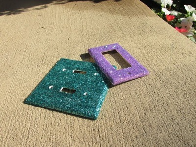 How to Make Glittered Light Switch Plates Craft Tutorial