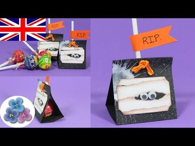 How to make Mummy Halloween Treats Craft Projects DIY Papercrafts Scrapbook Mathie