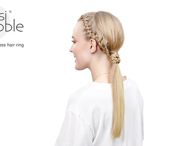 Invisibobble DIY hair tutorial: boho ponytail braid