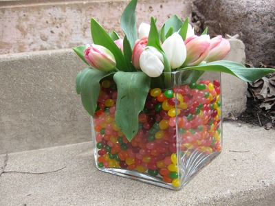 Jelly Bean Easter Floral Centerpiece Craft Tutorial