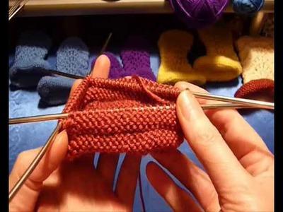 Как связать пинетки-сапожки спицами - 18. How to knit baby booties shoes - 18