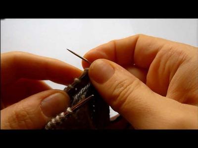 Knitting Tutorial: Grafting in pattern