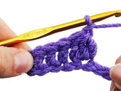Left Hand Crochet Cluster Stitch - Crochet Guru Stitch Guide