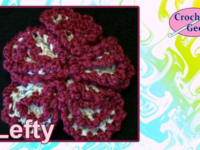 Left Hand Crochet - Crochet Spherical Flower Left Hand Version Crochet Geek