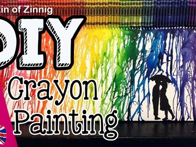 MELTED CRAYON PINTEREST WALL ART | ENG DIY CRAFT TUTORIAL