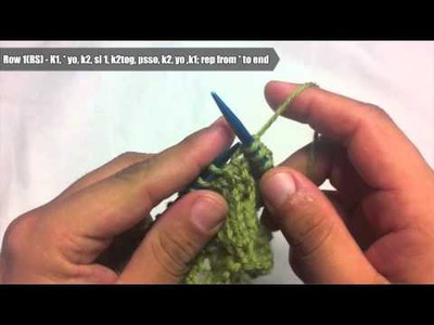 New Stitch A Day: How to Knit The Fishtail Lace Stitch