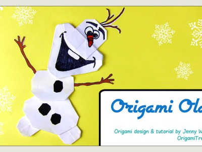 ORIGAMI OLAF! Origami Snowman Disney FROZEN Paper Crafts Tutorial for Kids-Easy
