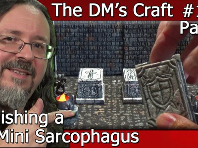 Painting DIY MINI SARCOPHAGUS Terrain (DM's Craft #130. part 2)