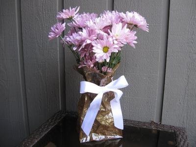 Paper Bag Vase Craft Tutorial