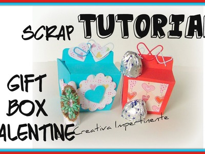 Paper Craft Facile - Tutorial Scatolina per Dolcetti o BIjoux -  DIY Gift Bag - Scrapbooking