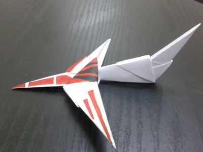 Paper Craft - How to make 3d paper jet plane at school. home