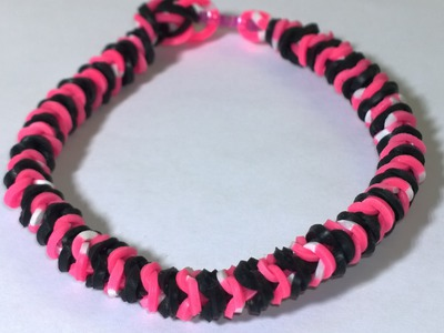 Rainbow Loom Inside Out Fishtail Bracelet With Two Forks DIY Tutorial Loom Bands