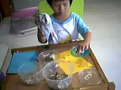 Right Brain Kids Art - Seashell Craft DIY with Kids