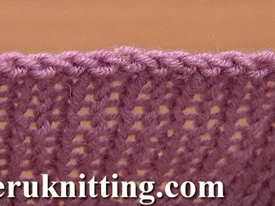 Sewn Bind Off Cast Off in Knitting Tutorial 7 Method 10 of 12 Finishing Off Knitted Piece
