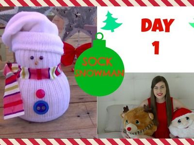 SOCK SNOWMAN TUTORIAL {DIY} | CRAFTY CHRISTMAS