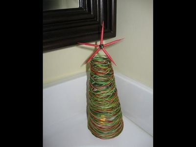 String Christmas Tree Craft Tutorial